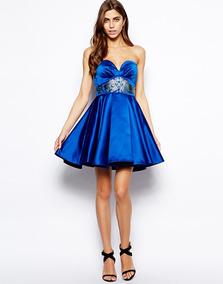 ea60a0326 Vestido Azul Rey - Vestidos de Mujer en Mercado Libre Chile