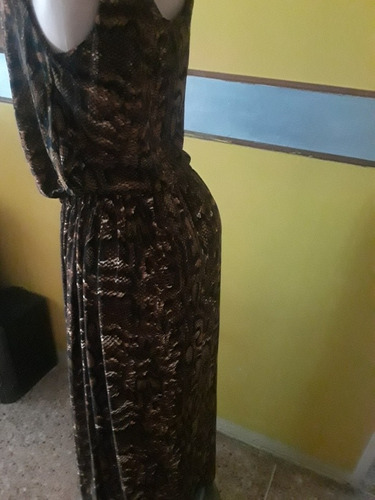 hermoso vestido tela de tirgre talla 2xl