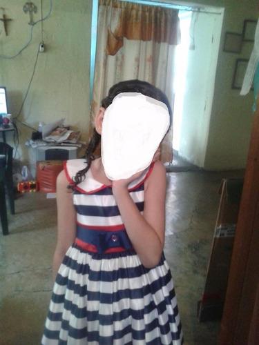 hermoso vestido tipo marinero usado marca kiki kids