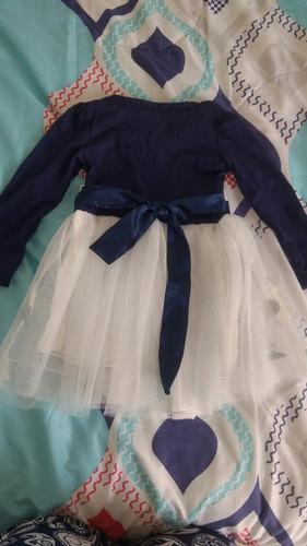 hermoso vestido tutu niña azul talla de 6 a 12 meses