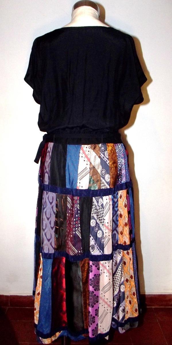 da7c4c94a Hermoso Vestido Vintage Falda Patchwork Talle L Envío Gratis - $ 890,00