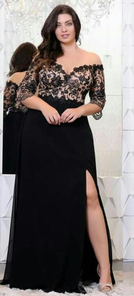 cd36fedd37 Hermoso Vestidos Para Gorditas De Noche A Pedido Plus Size - S  250 ...