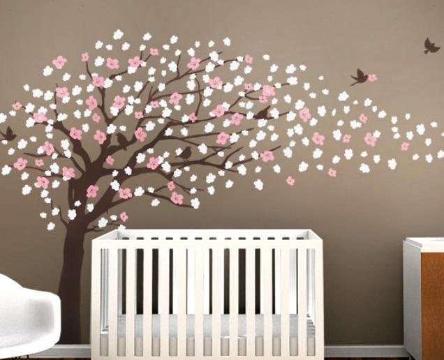 Hermoso vinilo decorativo rbol de cerezos 3 colores 1 en mercado libre - Vinilos de arboles para paredes ...
