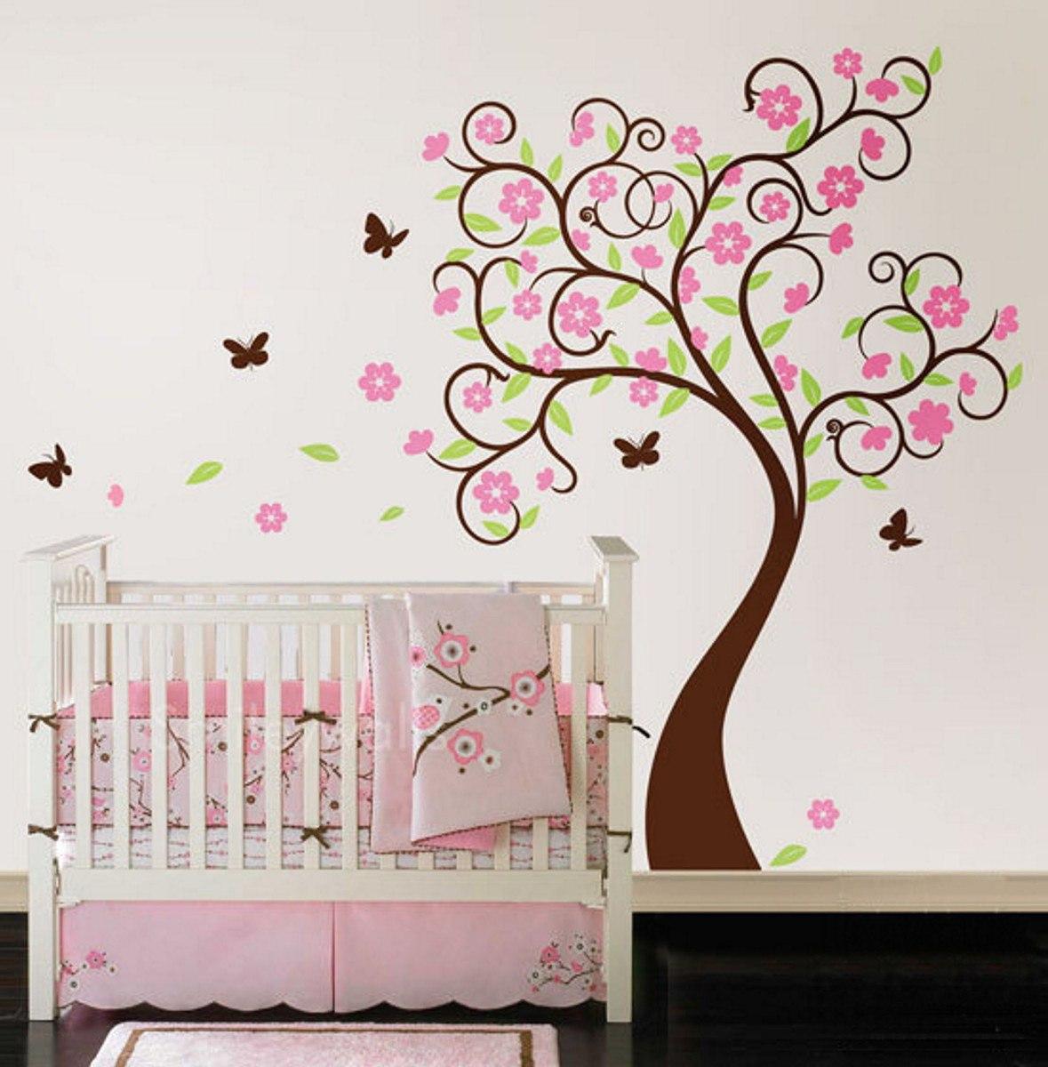 Blossom Wall Stickers Hermoso Vinilo Decorativo 193 Rbol Y Flores Sala Rec 225 Mara