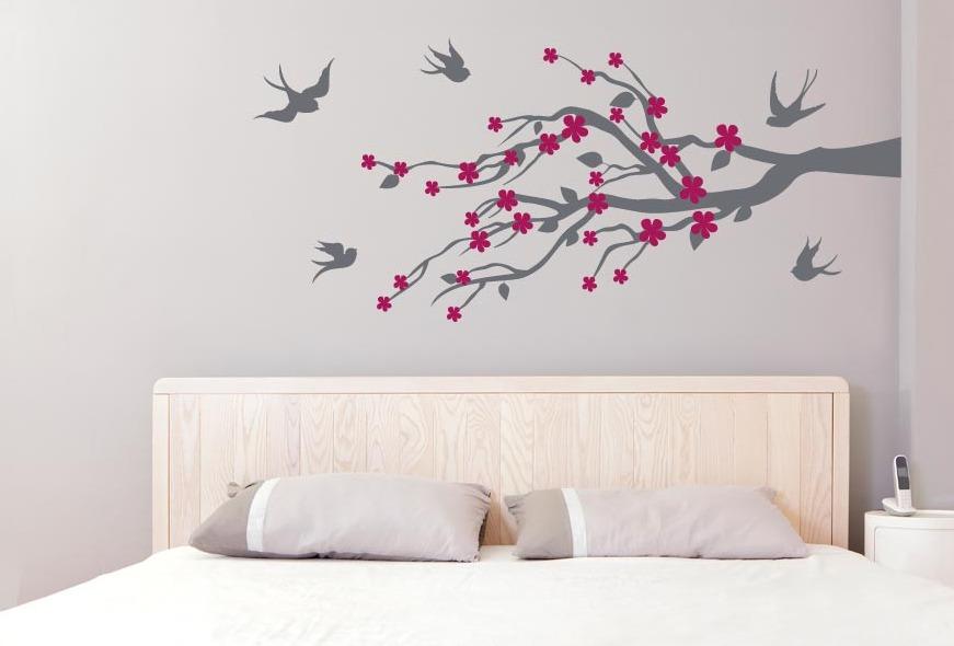 Hermoso vinilo decorativo rama hojas sala vinil sticker for Sala vinilo