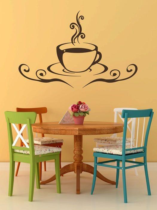 Hermoso vinilos decorativo para cocina taza caf 599 - Vinilo en cocina ...