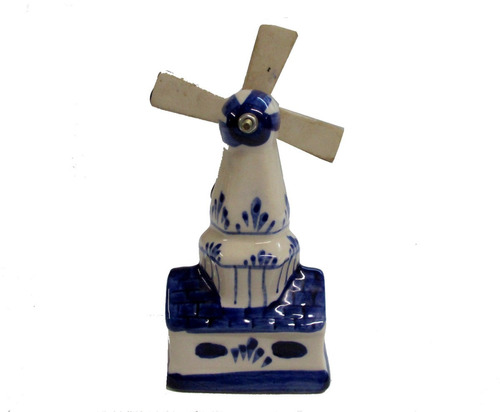 hermoso y decorativo molino de ceramica, 15 cms de alto.