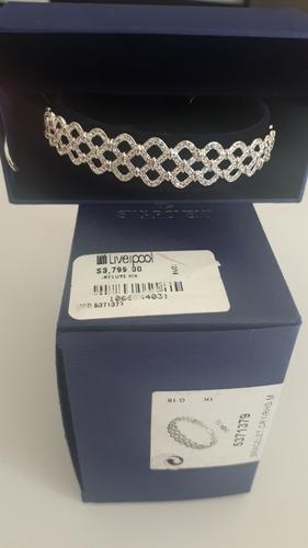 hermoso y elegante pulsera brazalete swarovski plata
