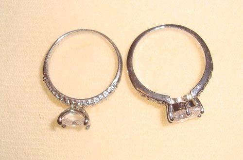 hermosos anillos de  acero titanio con zircones