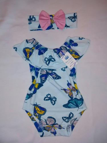 hermosos bodys para bebé modelo campesina con cintillo
