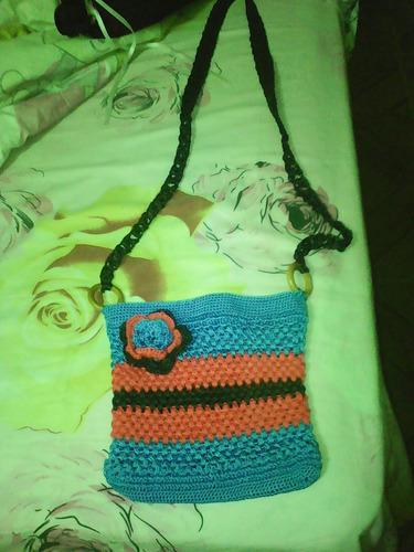 hermosos bolsitos tipo bandolero tejidos a crochet