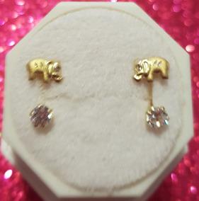 458f9108cac3 Arete Estilo Telefono Otras Piedras - Aretes Oro en Mercado Libre México