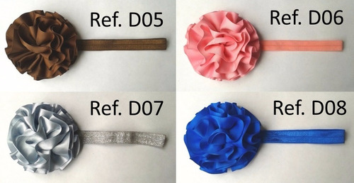 hermosos cintillos-lazos-balacas de flor. al mejor precio.