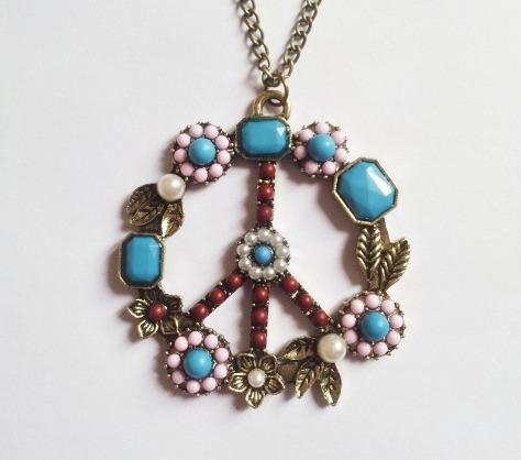 hermosos collar de la paz peace para regalar