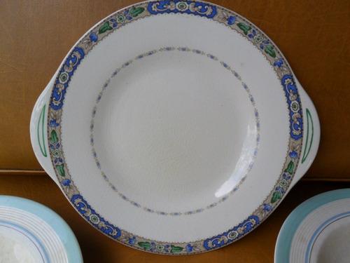 hermosos platos antiguos! porcelana inglesa sellada- vajilla