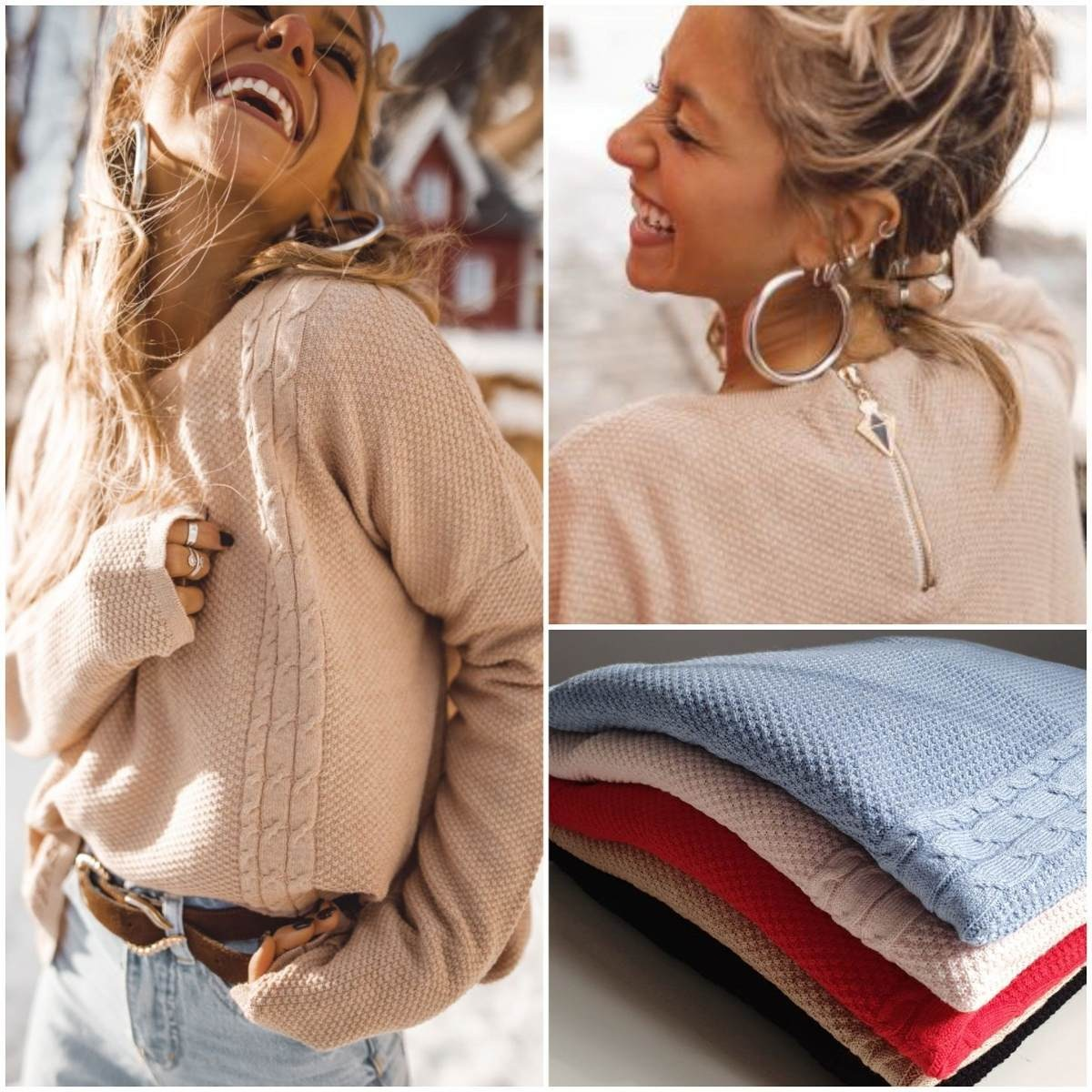 hermosos sweaters lana mujer moda otoño invierno 2019 diseño. Cargando zoom.