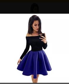 193bb671632 Hermosos Vestido Azul En Tafetan - Ropa, Zapatos y Accesorios en ...