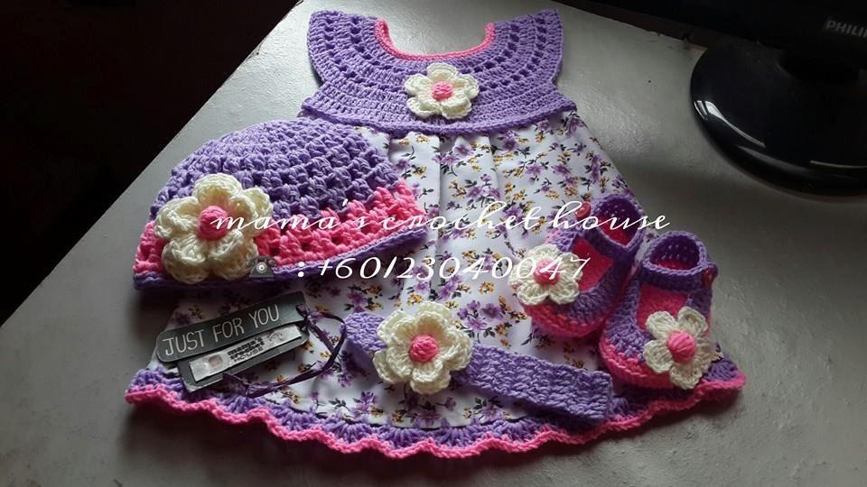 Hermosos Vestidos Para Niñas De O A 6 Tejidos En Crochet . - Bs ...