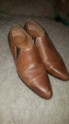 hermosos zapatos cuero febo líquido talle 38
