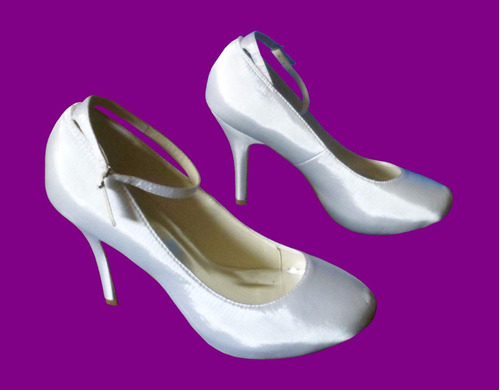 hermosos zapatos de novia boda talla 39 nuevos