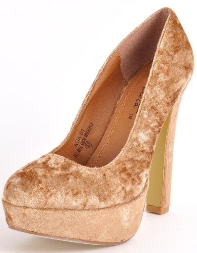 hermosos zapatos de plataforma terciopelado solo no. 38 y 40
