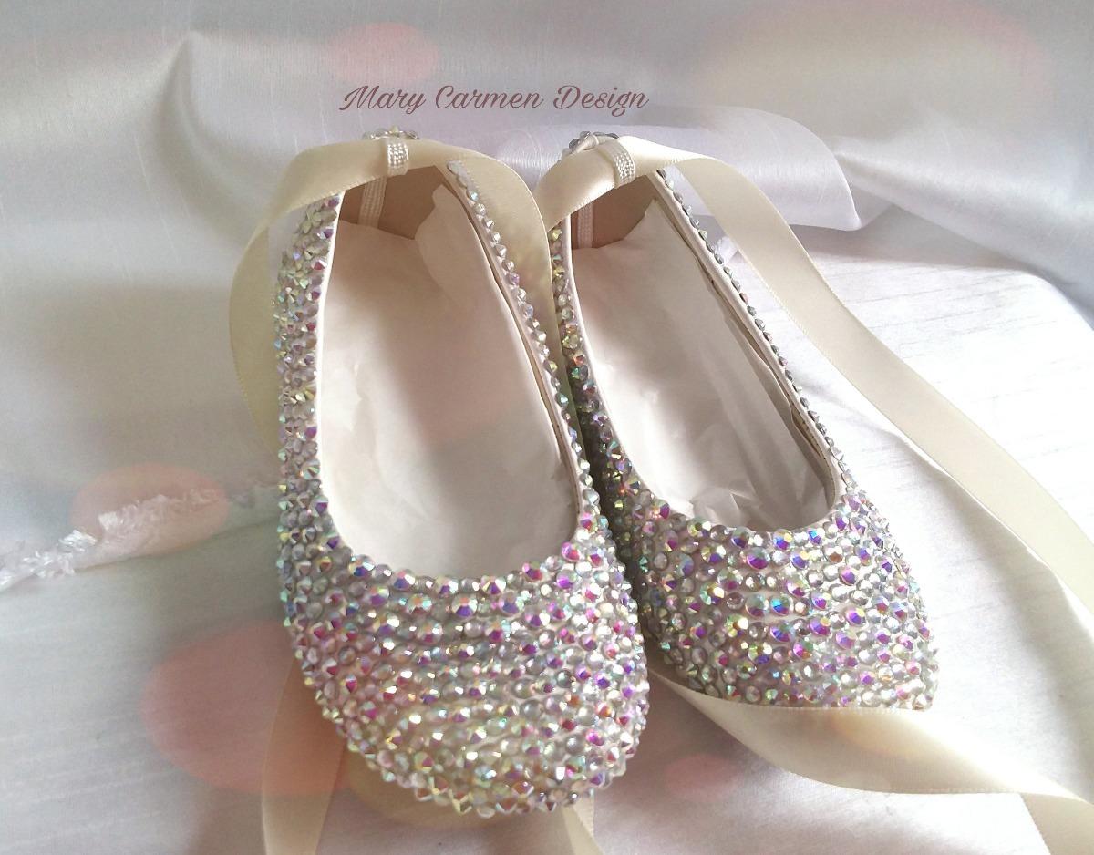 b29e1ec6ad9 Hermosos zapatos flats bautizo primera comunión cristales cargando zoom jpg  1200x938 Cristal zapatos primera comunion