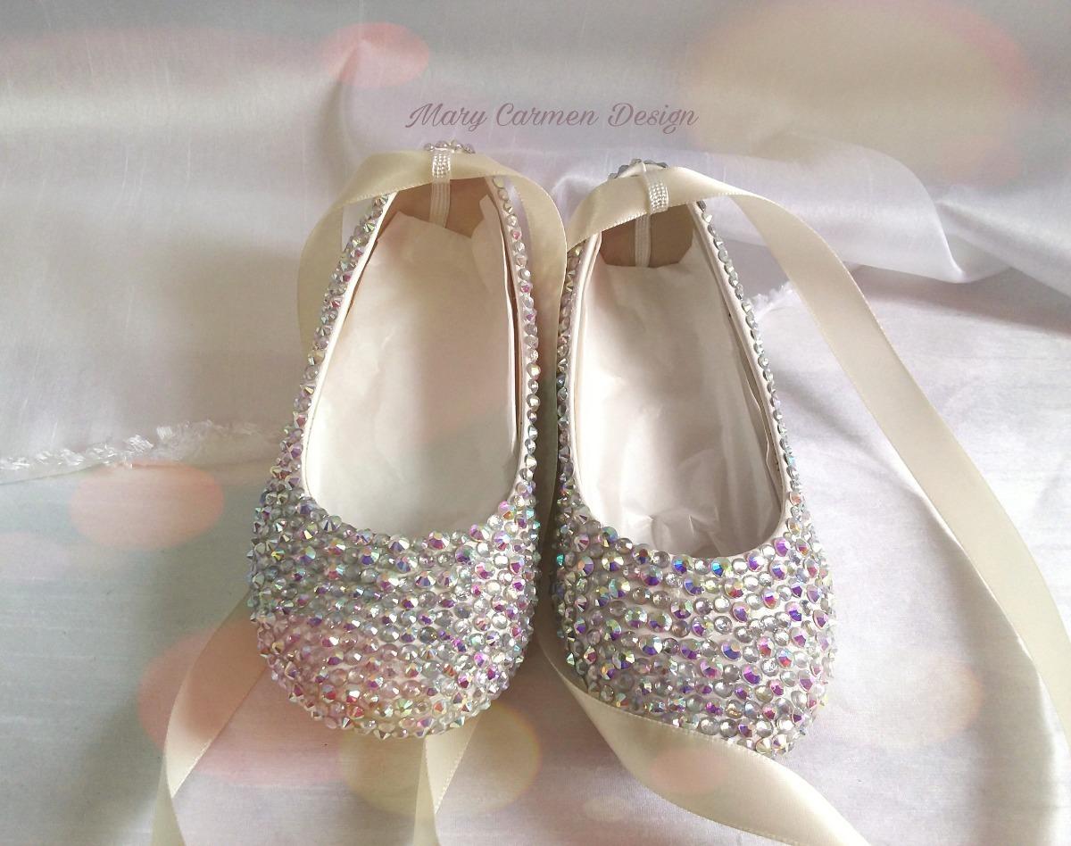 e82272f38f0 Hermosos zapatos flats bautizo primera comunión cristales cargando zoom jpg  1200x948 Cristal zapatos primera comunion