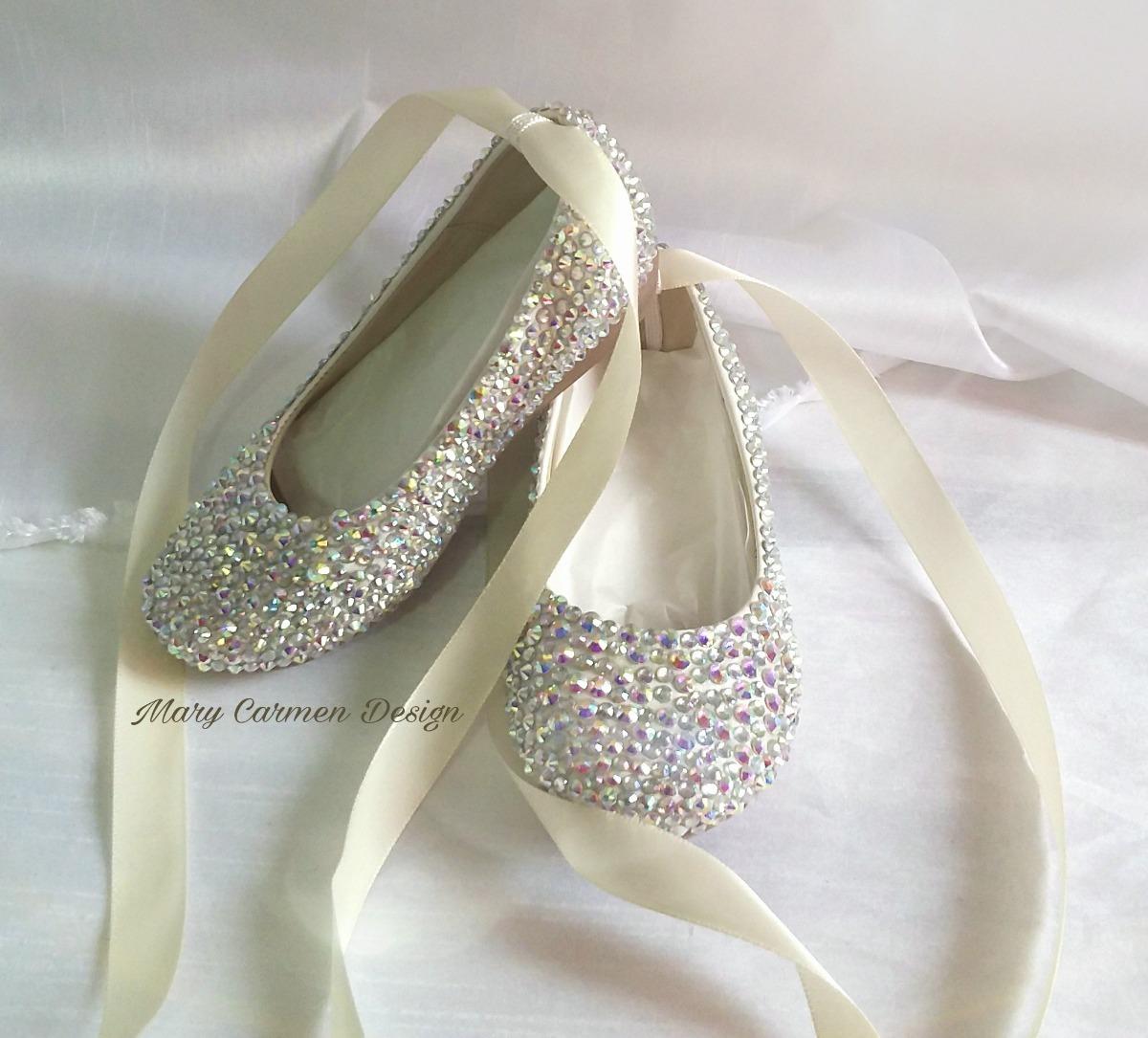 39a2d8897b1 Hermosos zapatos flats bautizo primera comunión cristales cargando zoom jpg  1200x1085 Cristal zapatos primera comunion