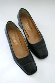colores y llamativos precio bajo ropa deportiva de alto rendimiento Hermosos Zapatos Negros De Cuero Punta Cuadrada