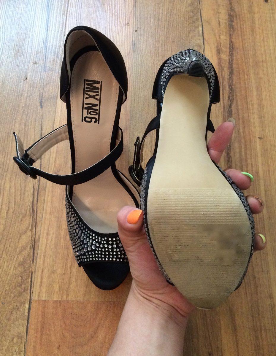 hermosos zapatos tacones mix n6 glitter cristales negros!! Cargando zoom. ec159f35267b