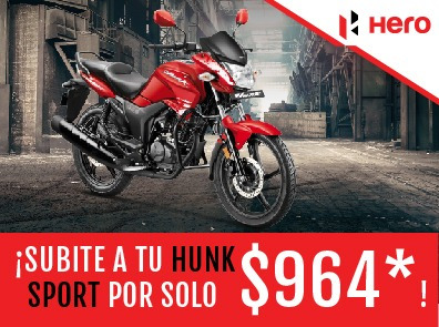 hero hunk sports 150 cc motos calle india 3 años de gtia