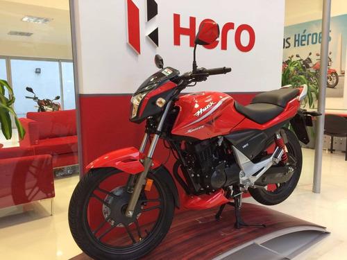 hero hunk sports 150 motos calle india 3 años gtia haedo