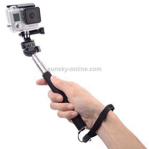 hero mini tripé com pau de selfie + tripod mount + adaptador