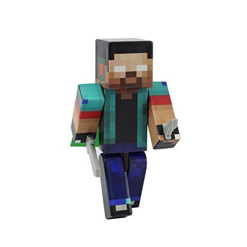 herobrine boy figura de acción toy, figuras de 4 pulgadas