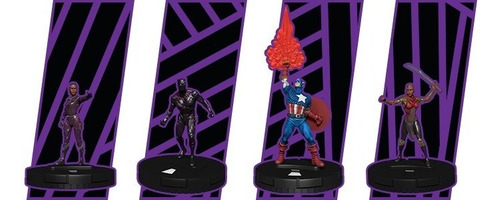 heroclix - booster - avenger black panther - thor - brick