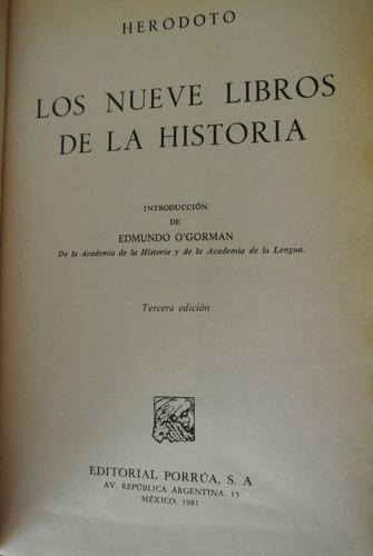 herodoto, los nueve libros de la historia