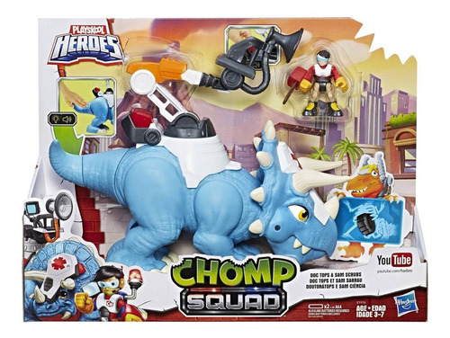 heroes chomp squad - doc tops - dinosaurio - hasbro