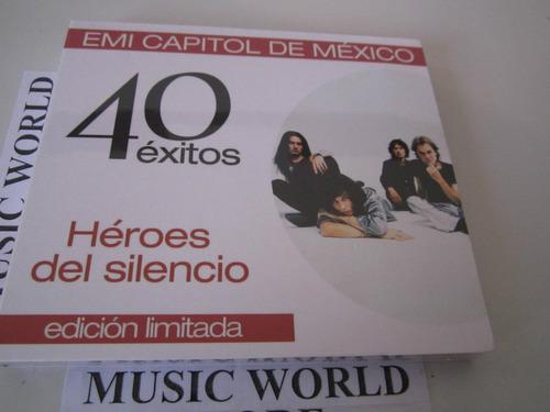 heroes del silencio cd doble 40 temas  press colombia nue