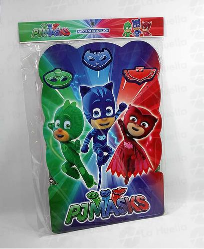 heroes en pijama cotillon tematico  pj masks con disfraz