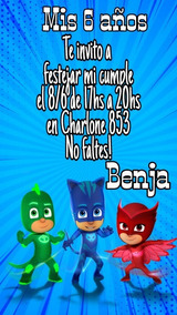 Heroes En Pijama Tarjeta Digital