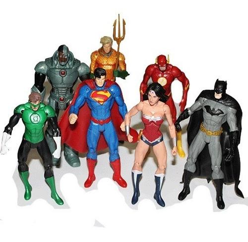 héroes liga justicia x7 figuras dc comic superman batman