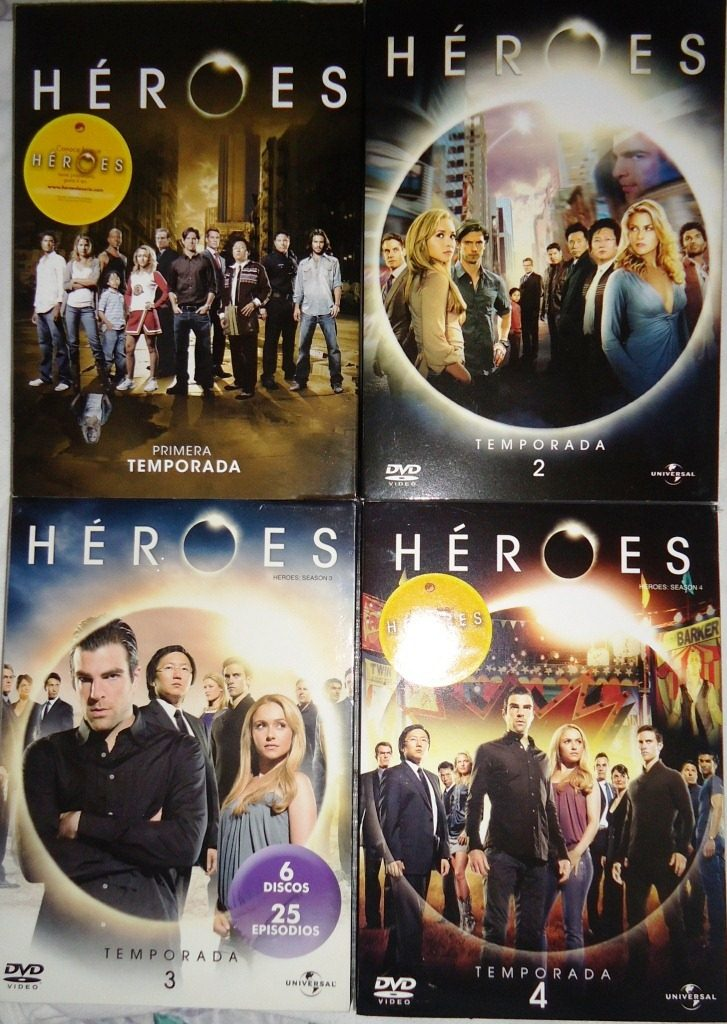 Heroes Serie Completa Temporadas 1 2 3 4 Dvd