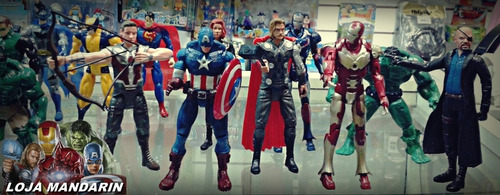 heróis bonecos vingadores