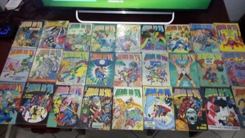 herois da tv completa com dicionario marvel e figurinhas