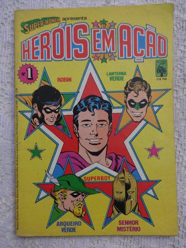 heróis em ação nº 1 - lanterna verde - o guerreiro - 1984