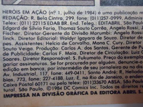 heróis em ação - nº1 - julho 1984 - by trekus vintage