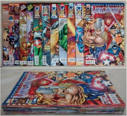 heróis renascem coleção completa 52 gibis editora abril 1998