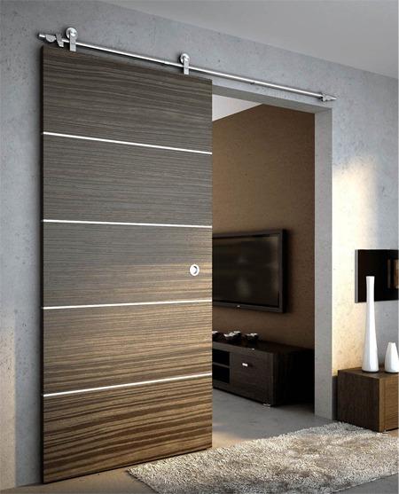 Herraje deslizable p puerta corrediza acero inoxidable for Puerta corrediza de madera