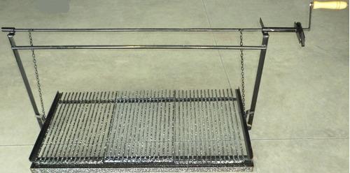 herraje para amurar hierro redondo enlozado de 0.83mtx0.60cm