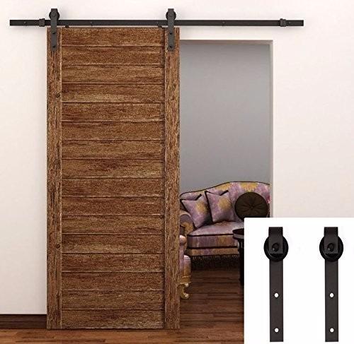 Herraje riel acero granero p puerta corrediza de madera for Riel para puerta corrediza